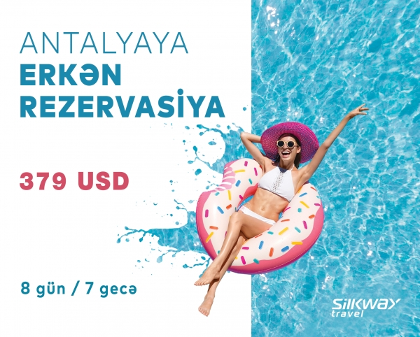 Favorable offer from Silk Way Travel: for only $379 to Antalya